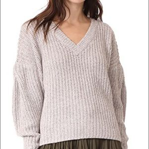 Madewell Pleat Sleeve pullover sweater